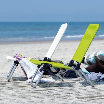Fiam - Quick Strandstuhl, Duo weiss und grün