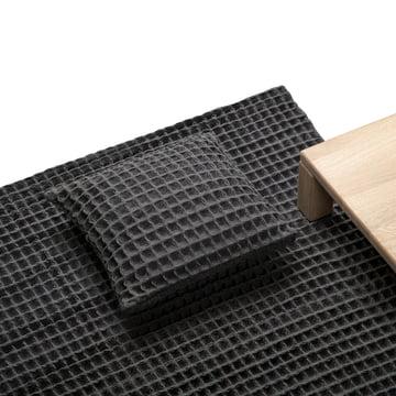 Objekten - Waffle Kissen, Teppich, dunkelgrau