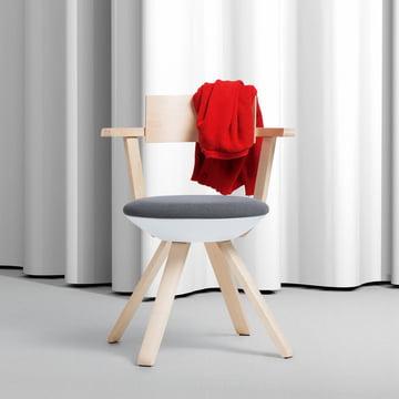 Artek - KG 002 Rival Stuhl hoch Birke, weiss, schwarz / weiss