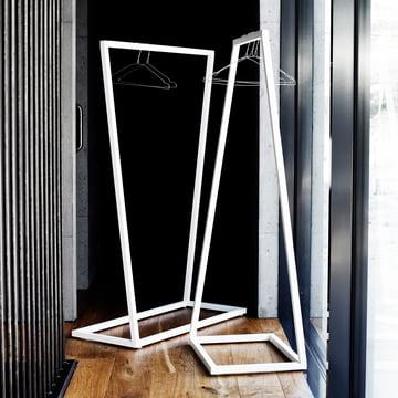 BeDesign - Lume Garderobenständer, weiss