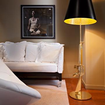 Flos - Lounge Gun Stehlampe, gold glänzend
