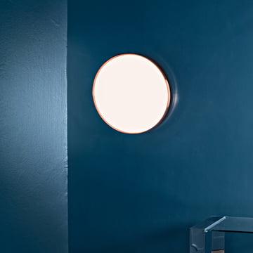 Flos - Clara Wand- und Deckenleuchte LED, weiss mit Dekoring Kupfer