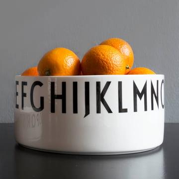 Design Letters - AJ Porzellan Deko-Schale gross, mit Orangen