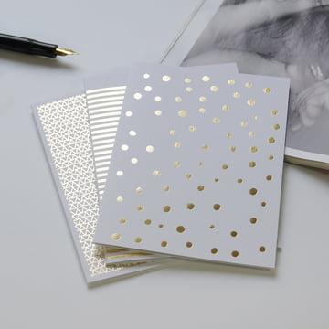 Goldene Grusskarten für Weihnachten & Hochzeiten