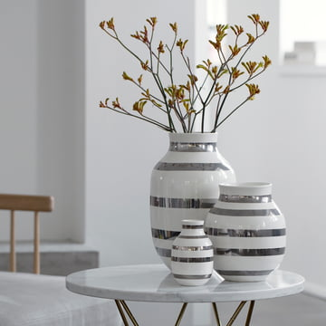 Kähler Vasen mit Streifendesign
