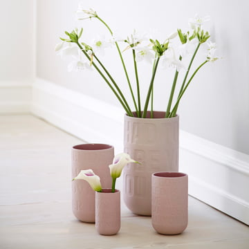 Love Song Blumenvase in zartem Rosa
