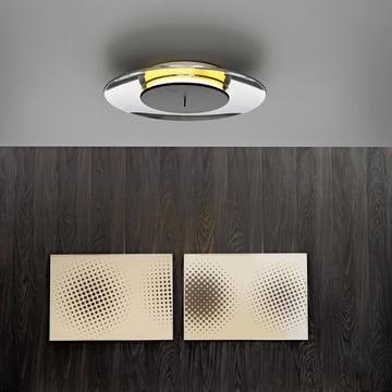 Lunaire Wandleuchte von FontanaArte in aluminium poliert LED