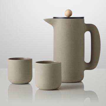 Muuto - Push Coffee-Maker, Push Becher, steingrau