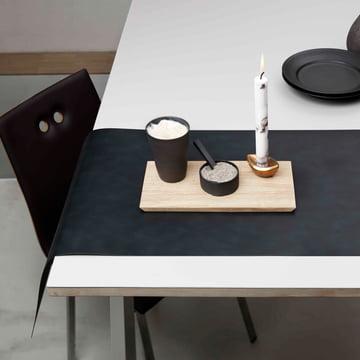 Tischläufer von LindDNA in Nupo schwarz