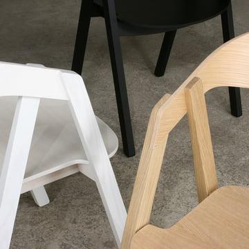 Maigrau - NARDO Stuhl, Eiche natur / Esche schwarz / Esche weiss