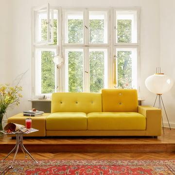 Das Polder Sofa XL und die Akari 10A Stehleuchte von Vitra
