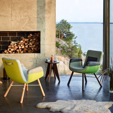 Vitra - Tabouret Solvay Hocker & East River Chair