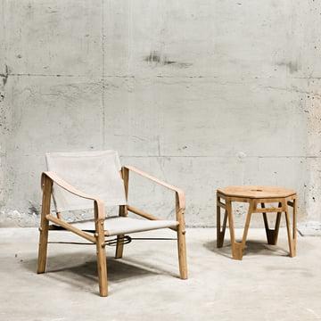 Stuhl und Tisch aus Bambusholz