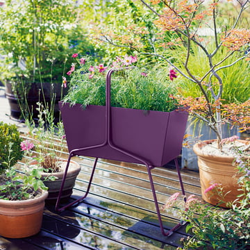 Fermob - Basket Blumenkasten hoch, aubergine