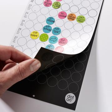 Monatsplaner zum Wenden von Dotty Editions