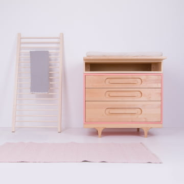 Kommode Caravan Dresser mit Wickelaufsatz Changing Trunk