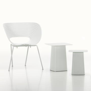 Vitra - White Collection - Metal Side Table / Tom Van Stuhl, elfenbein / weiss