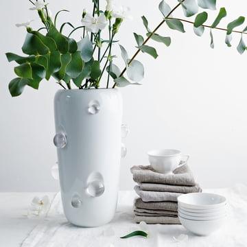 Die Dagg Vase in weiss glasiert von Rosenthal