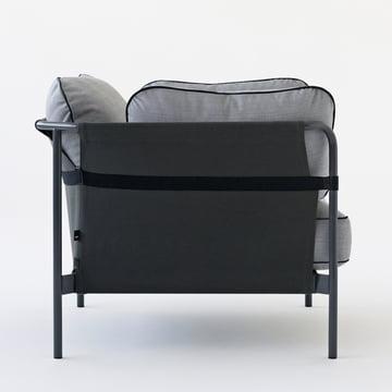 Hay - Can Sessel, grau / Canvas schwarz / Canvas grau