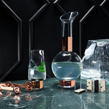 Tank High Ball Glas und Karaffe von Tom Dixon