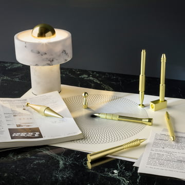 Stone Tischleuchte und Cog Stifte von Tom Dixon