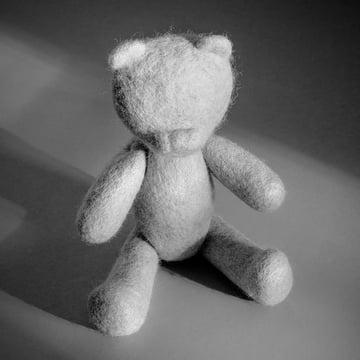 Der Teddy aus den Menu - Nepal Projects in hellgrau