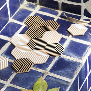 Table Tiles Optic Untersetzer von Areaware