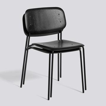 Der Hay - Soft Edge Stuhl in Eiche schwarz gebeizt und Gestell aus Stahl, pulverbeschichtet schwarz