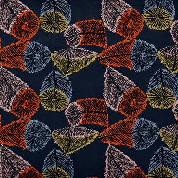 Der Stoff Hana No Mi in dunkelblau / orange / gelb von Kvadrat