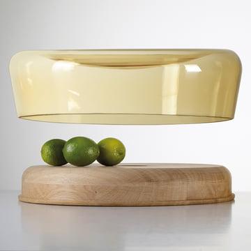Die Double Bowl in Eiche geölt / Glas amber von Peruse