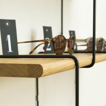 Link Regalsystem von Studio Hausen in Eiche natur / Schwarz