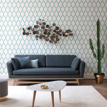 Fifties Sofa und Beistelltisch von red edition