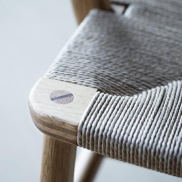 Carl Hansen - CH22, Detail Sitzfläche