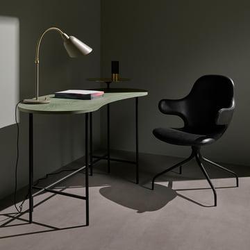 Der &tradition - Palette Table - JH9 in graugrüner Esche / Messing