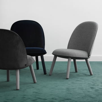 Ace Lounge Chair Nist und Velour von Normann Copenhagen
