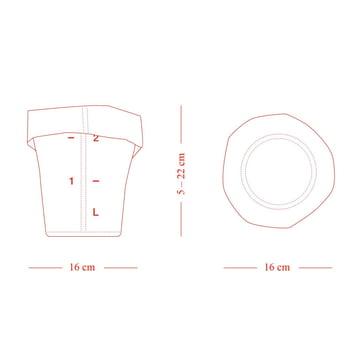 Die Skizze des Roll-Up Papierkorbes in XS von Michel Charlot