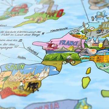 Travelmap/Bucketlist von Awesome Maps