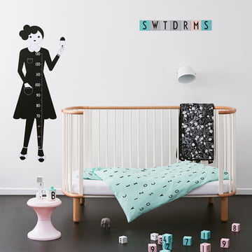 Design Letters - AJ Babybettwäsche, minzgrün / Kids Kollektion