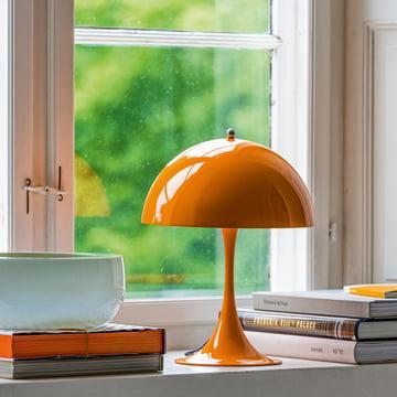 Panthella Mini Tischleuchte von Louis Poulsen in Orange