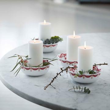 Weihnachtsgeschirr von Bjørn Wiinblad mit Kerzen