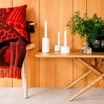 Kumiseva Kissenbezug und Unikko Wolldecke
