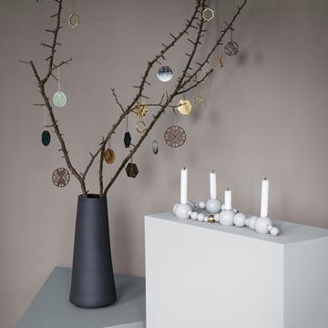 Wooden Crystal, Ornamente und String Kerzenhalter