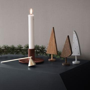 Cast Iron Kerzenhalter und Messing Kerzenlöscher