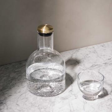 Bottle Karaffe von Menu mit Messingdeckel