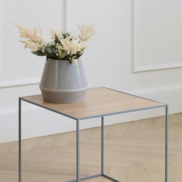 Rimm Vase und Twin Beistelltisch von by Lassen