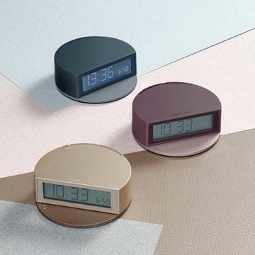 Lexon - Fine Clock, blau/grau