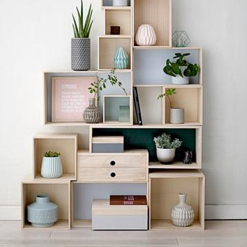 Bloomingville - Storage Box, natur / pastellfarben