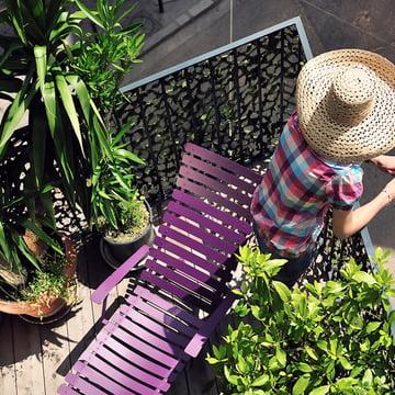 Bistro Gartenliege von Fermob für den Balkon