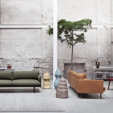 Outline Sofa von Muuto in Leder