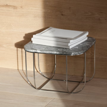 Cage Table von Menu aus Marmor / Chrom